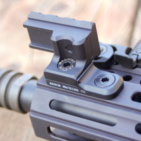 Offset Light Mount with the 3 slot rail on an M-LOK base
