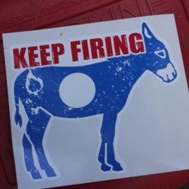 Keep Firing Sticker 5 inch