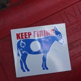 Keep Firing Sticker 3 inch